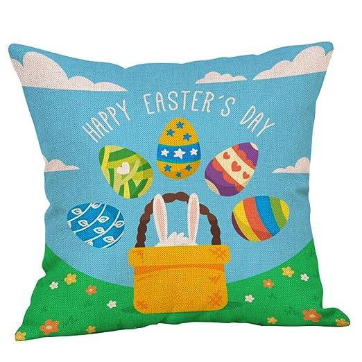Callm fundas de almohada con diseño de conejo de Pascua ...
