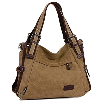 Winkine Canvas Tote Bags - Cross Body Handbags with Shoulder Strap - Fit  iPad eca177c11aae0