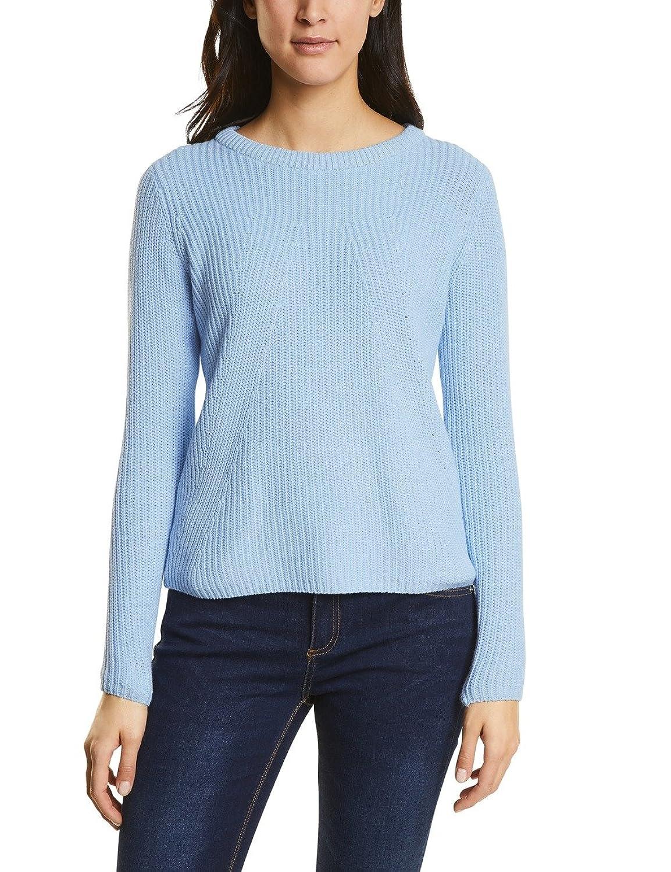 Street One 300500, Jersey para Mujer, Azul (Morning Blue Knit 11215), 42