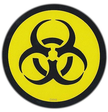 Biohazard Symbol Hard Hat Sticker Helmet Decal Label Lunch Tool