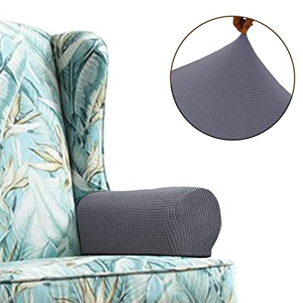 Amazon Com Chelzen Stretch Sofa Armrest Covers Set Of 2 Spandex