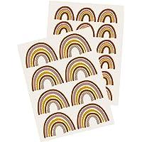 Yabaduu Y004 Regenboog Muursticker Sticker voor Kinderkamer Babykamer (aardetinten)
