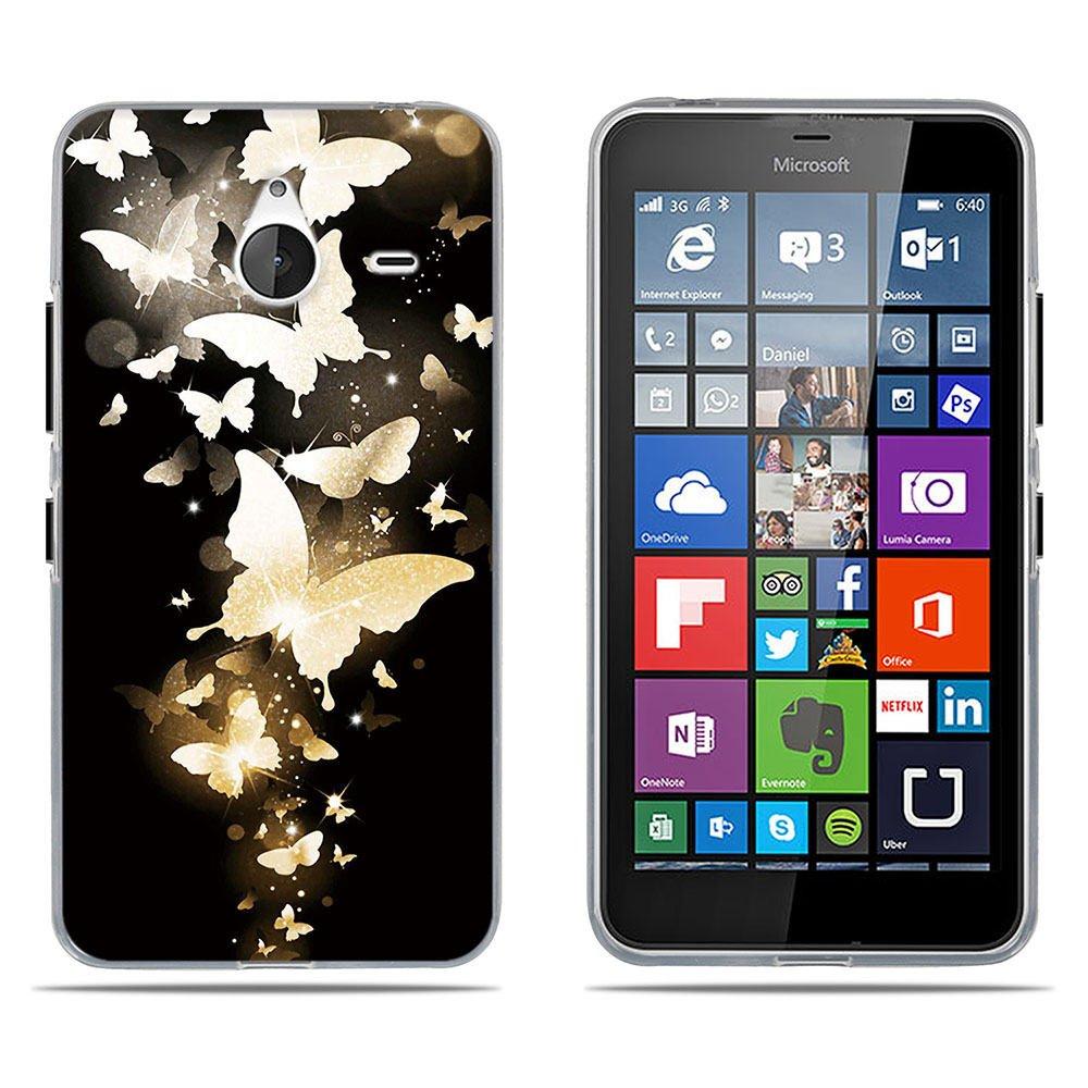 Fubaoda Coque Microsoft Nokia Lumia 640XL, [Chiot Rouge-Blanc] Ultra Slim TPU Silicone Haute Qualité Téléphone Portable Coque pour Microsoft Nokia Lumia 640XL SB-1001