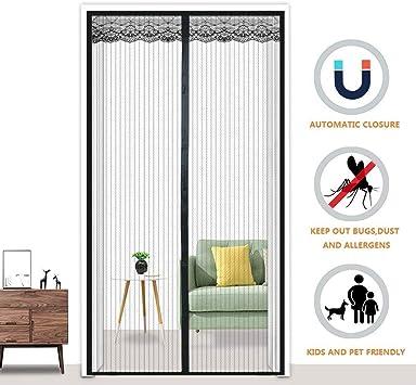 Mosquitera Puerta Magnetica La Cortina Magn/ética Es Ideal Para La Puerta Del Balc/ón Mosquitera Profesional Sin Taladrar Blanco Montaje Adhesivo Para Ni/ños