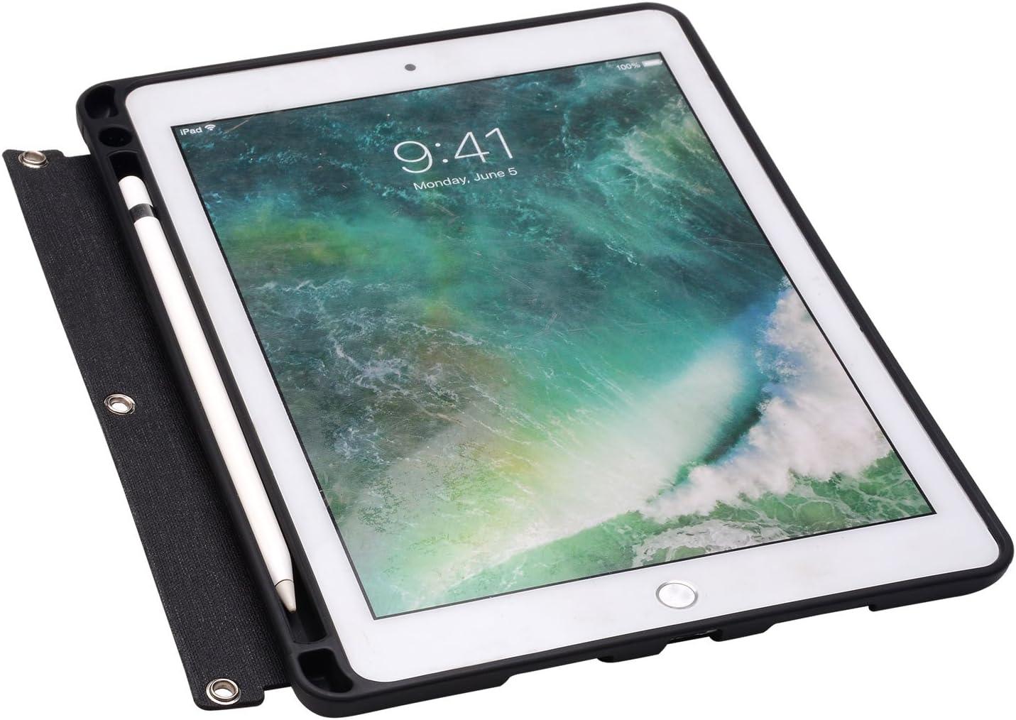 Compatible for iPad Pro 11-inch 2018 Organizer Binder Padfolio Zipper Binder Portfolio with iPad Notepad Holder