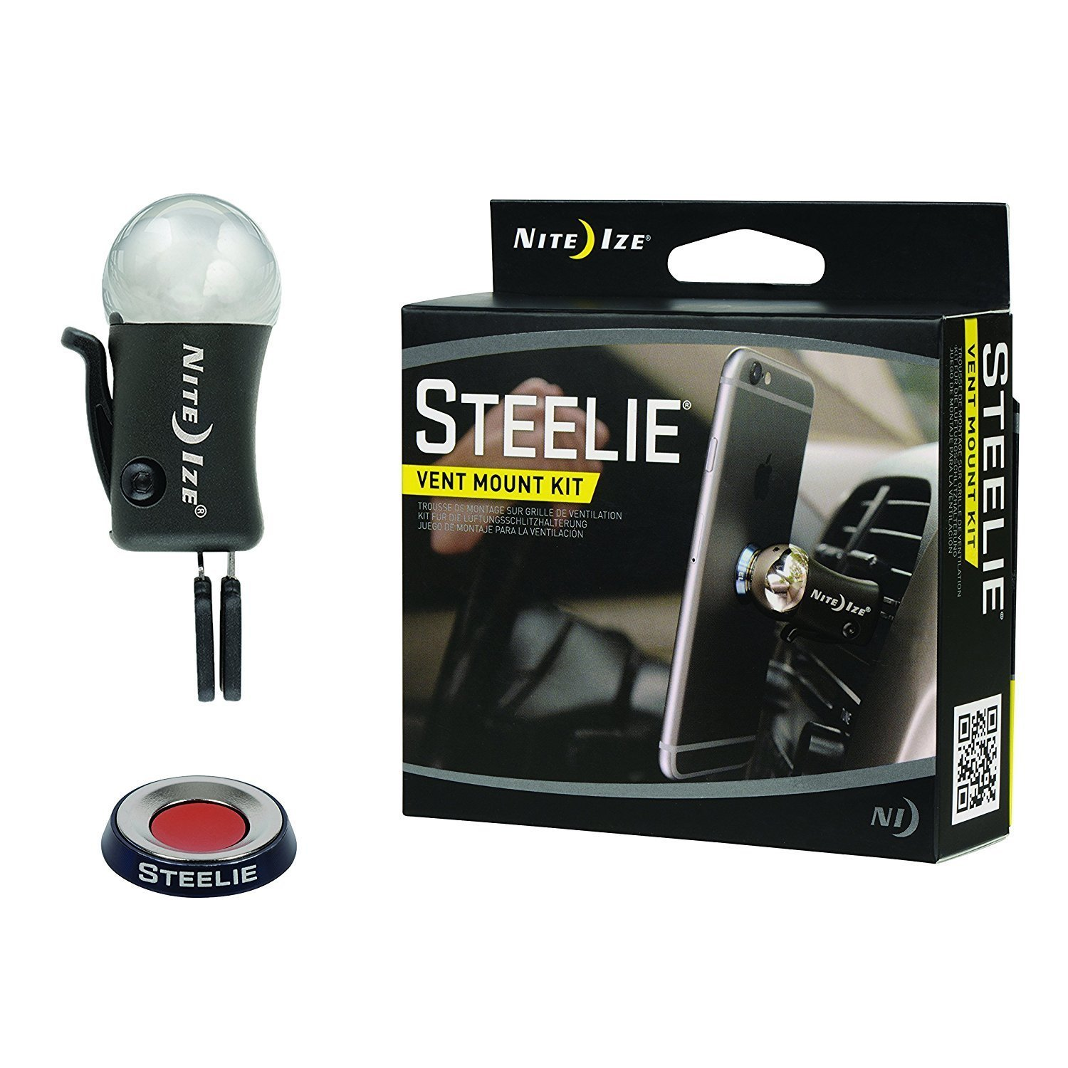Nite Ize Original Steelie Vent Mount Kit-  Magnetic  Car Vent Mount for Smartphones by Nite Ize (Image #1)