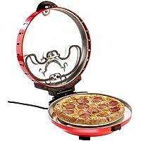 Rosenstein & Söhne Pizzaofen: Pizza-Maker mit Timer und Steinofenplatte, für Pizza mit Ø 29 cm (Pizzastein)