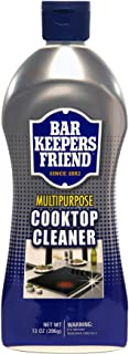 product image for Bar Keepers Friend Multipurpose Cooktop Cleaner (13 oz) - Liquid Stovetop Cleanser - Safe for Use on Glass Ceramic Cooking Surfaces, Copper, Brass, Chrome, and Stainless Steel and Porcelain Sinks