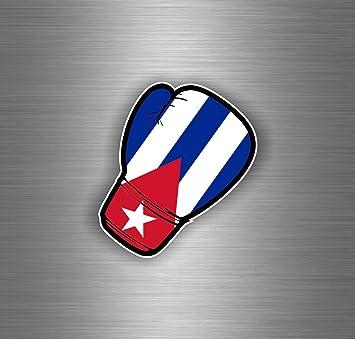 Akachafactory Autocollant Sticker Voiture Moto Gant de Boxe Drapeau JDM Cuba cubain