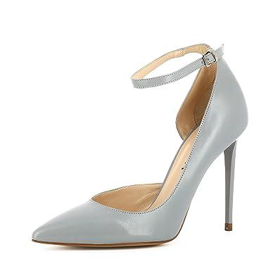 Evita Shoes Alina Damen Sling Pumps Lack mit Prägung Hellbeige 35 E91MXytbk
