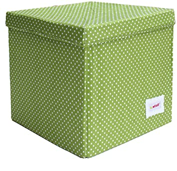 Minene Storage Cube   Green With Spots Star Storage Baskets, Square Storage  Box, Large