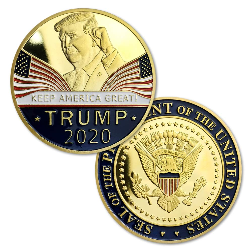 Donald Trump 2020 Challenge Coin Keep America Great United States Presidential Re-Election Campaign Gold Plated Collectible Eagle Coins Southkingze