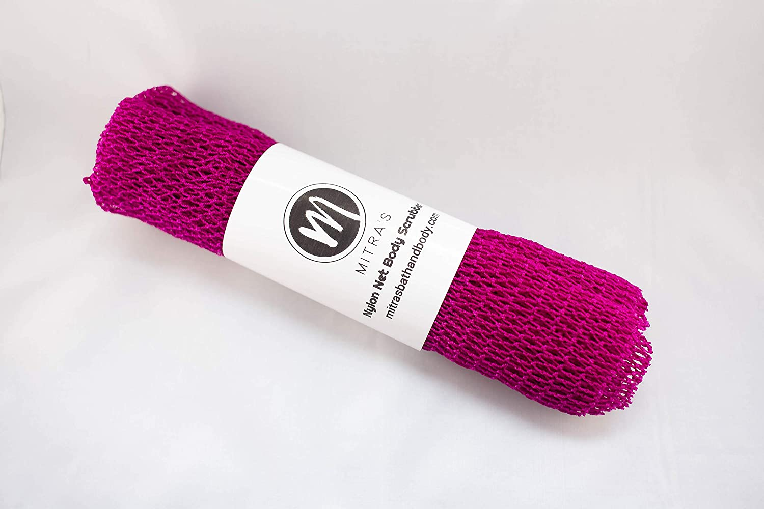 African Net Body Exfoliating Shower Scrubber/Exfoliating Back Scrubber/Skin Smoother/African Net Sponge - Fuschia