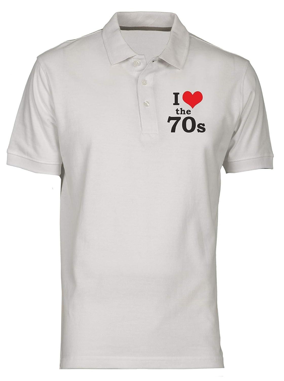 Polo por Hombre Blanco TR0066 I Love The 70S 70 S Seventies Retro ...