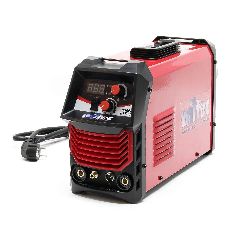 Unidad soldadura MIG Electrodos Combustión HF 200 Amperios Inverter TIG Soldar Taller Trabajos metal: Amazon.es: Bricolaje y herramientas