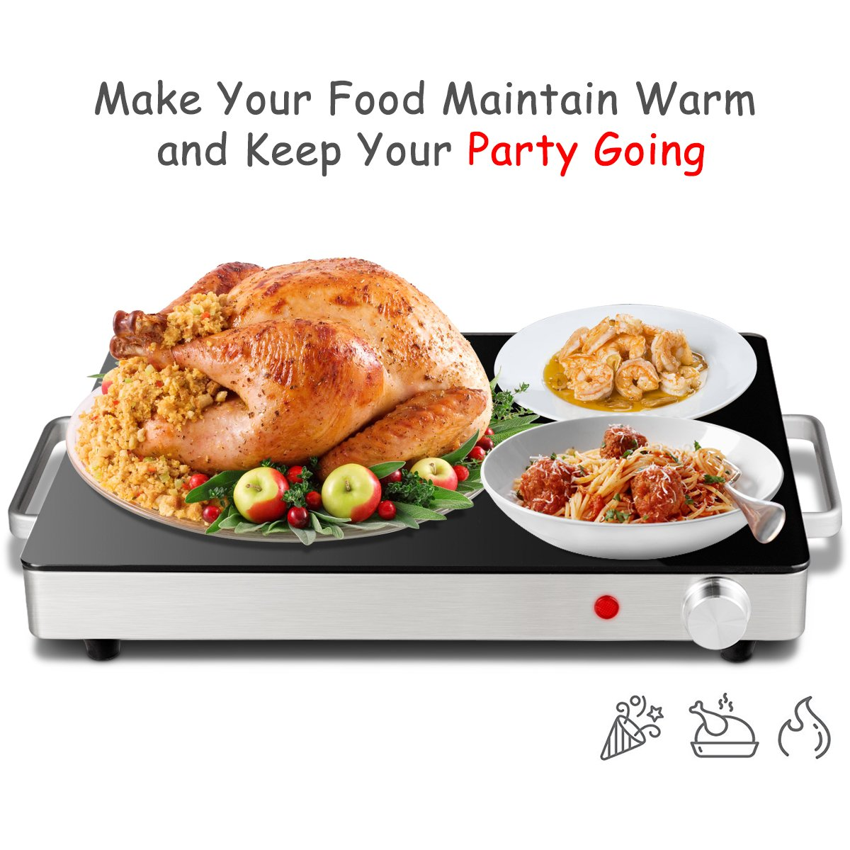 Giantex Warming Tray with Adjustable Temperature Control Perfect For Buffets, Restaurants and Home Dinners by Giantex (Image #4)