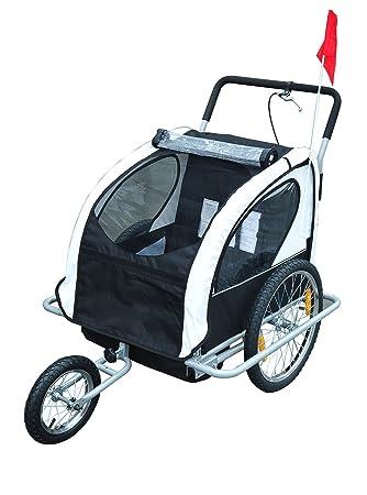 Aosom Elite 2in1 Double Child Bike Trailer Jogger