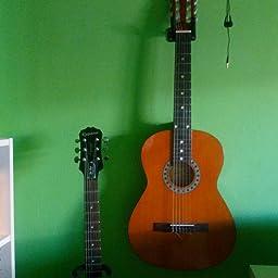 SODIAL(R) Soporte de pared guitarra soporte de suspension Holder ...