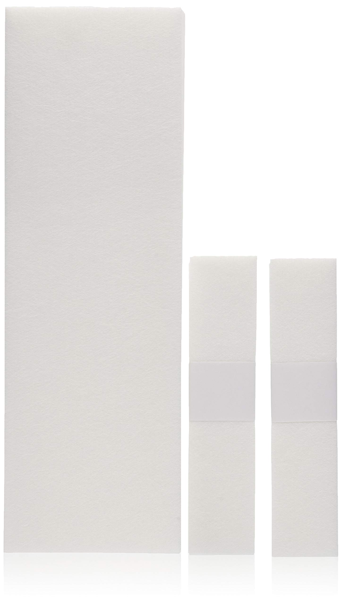 FantaSea Non Woven Facial and Body Wax 100 Strips, 50 Small 50 Large
