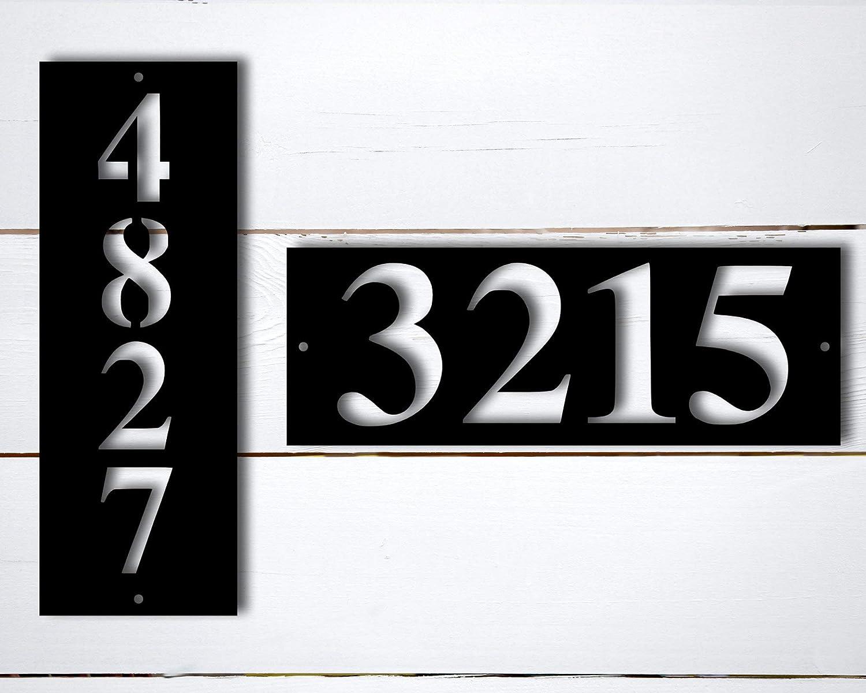 Tamengi Custom Metal Address Plate for House, Metal Address Plaque, Metal Address Sign