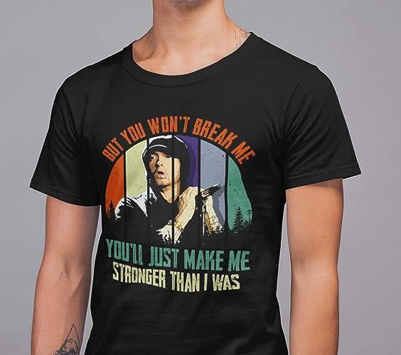 00a55236 Amazon.com: Vintage Rap God Hip Hop Eminem But You Won't Break Me ...