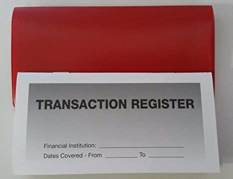 amazon com 20 checkbook transaction registers 1 red vinyl