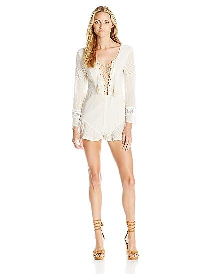 234d3697218 Amazon.com  Somedays Lovin Women s to Wonder Cotton Lace Up Playsuit ...