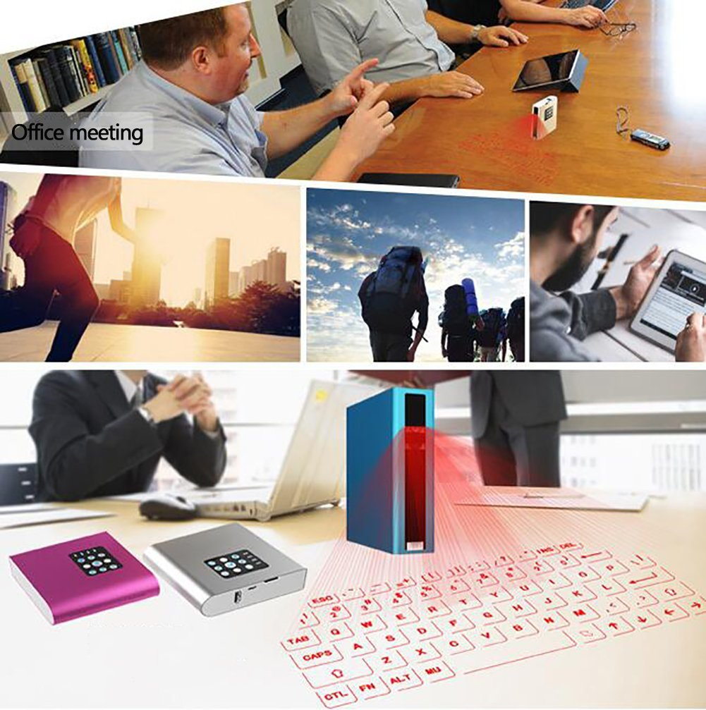 Amazon.com: SHANGXIAN Virtual Keyboard Laser Projection Bluetooth Keyboard Ultra-Portable Simple To Use Full English Keyboard,Red: Home & Kitchen