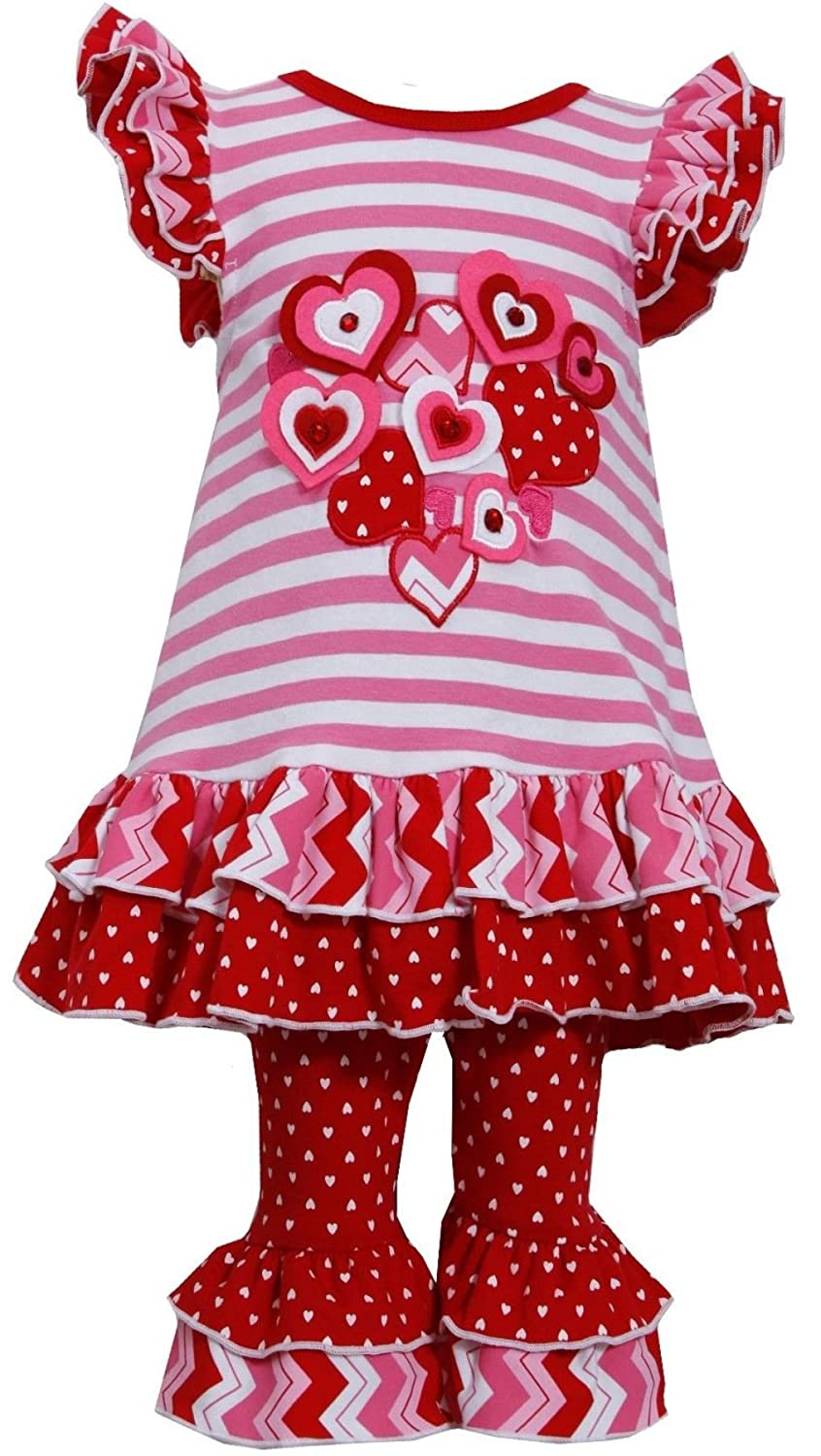 Amazon.com: Bonnie Jean Girls Valentine Heart Dress U0026 Legging Outfit:  Clothing