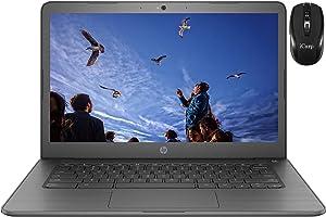 "2020 Flagship HP Chromebook 14 Laptop Computer 14""HD Touchscreen Display Intel Core Celeron N3350 4GB RAM 32GB eMMC 128G SD Card B&O Play Webcam WiFi HDMI USB-C Chrome OS + iCarp Wireless Mouse"