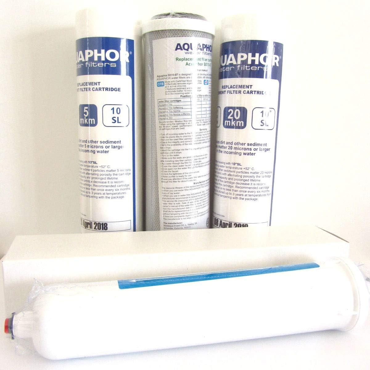 FILTRI di ricambio 10 pollici osmosi inversa per 6 mesi con filtro dopo FILTRI DI RICAMBIO