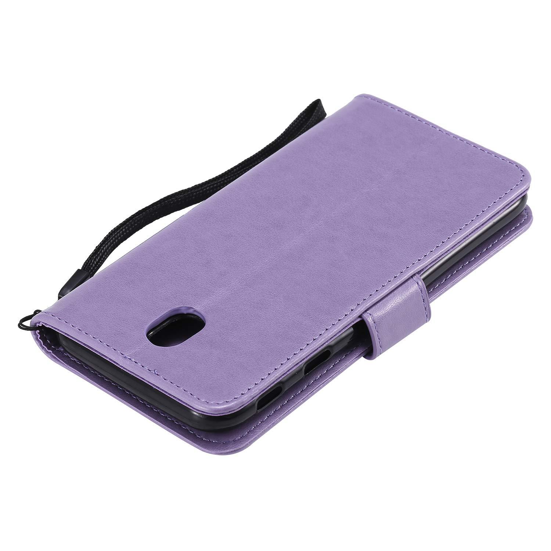 Docrax Galaxy J5 2017 Handyh/ülle H/ülle Leder Case mit Standfunktion Magnetverschluss Flipcase Klapph/ülle kompatibel mit Samsung Galaxy J5 2017//J530F DOHHA130232 Violett