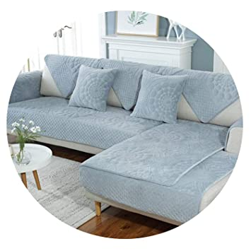 Amazon.com: Embossed Floral Quilted Plush sectional Sofa ...
