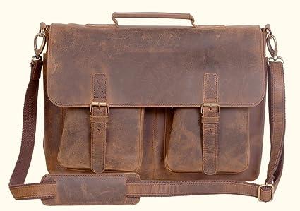 7ddb7ef41737 Amazon.com  Harshali S 16 Inch Retro Buffalo Hunter Leather Laptop ...