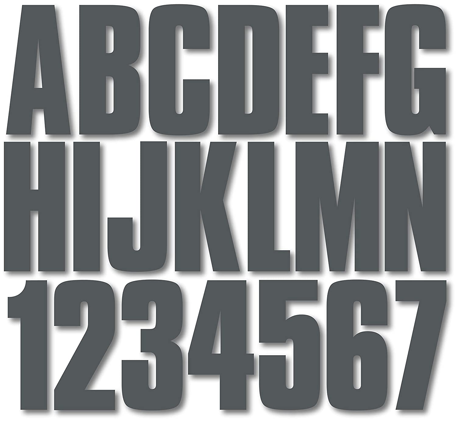 Stiffie Uniline Carbon 3 ID Kit Alpha-Numeric Registration Identification Numbers Stickers Decals for Boats /& Personal Watercraft