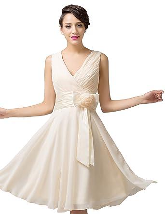 Kleid Grace Karin Apricot Damen Empire Rosa 54Bekleidung A4jL3qR5