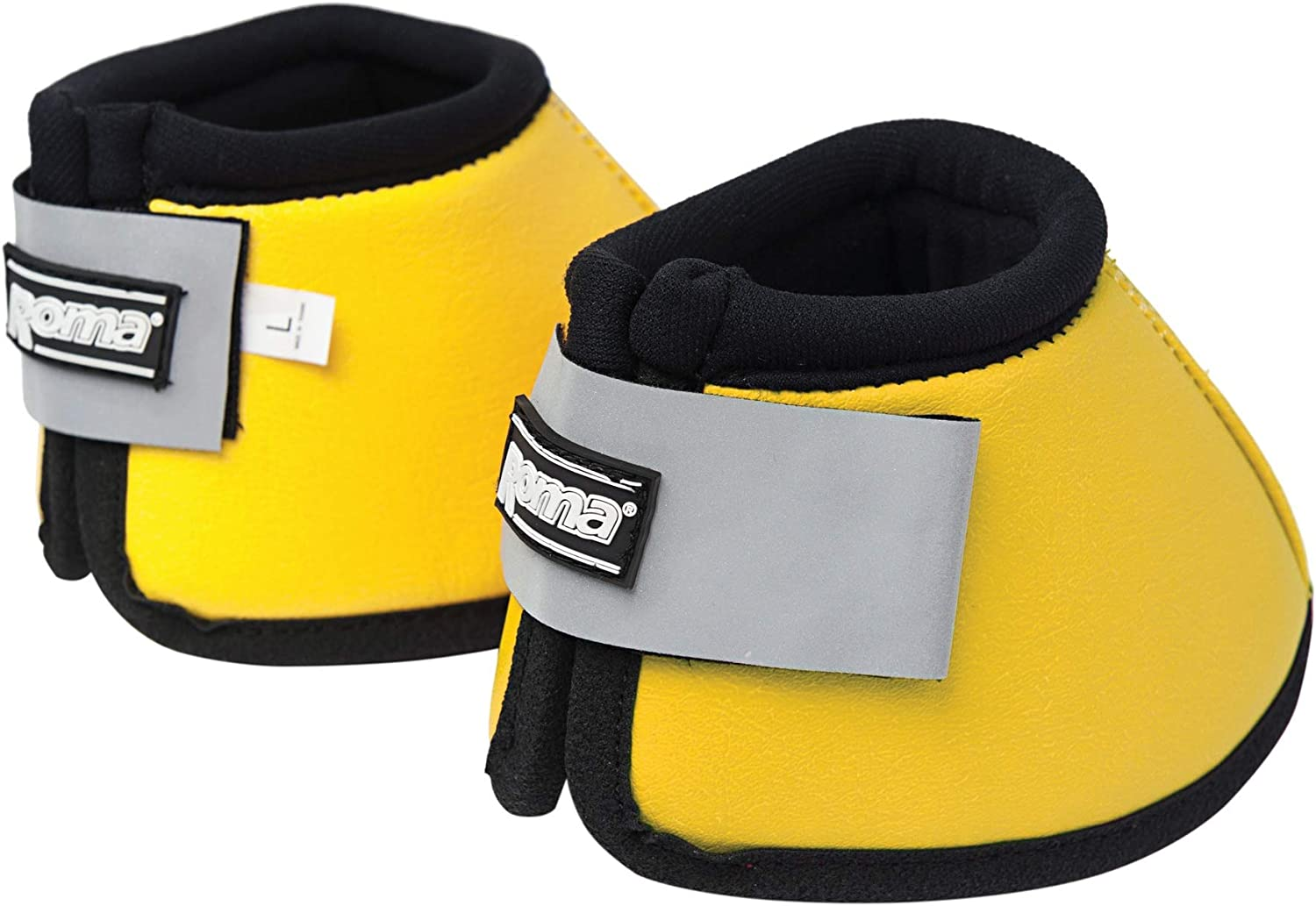 Roma Reflective Non-Twist Bell Boots Yellow Cob