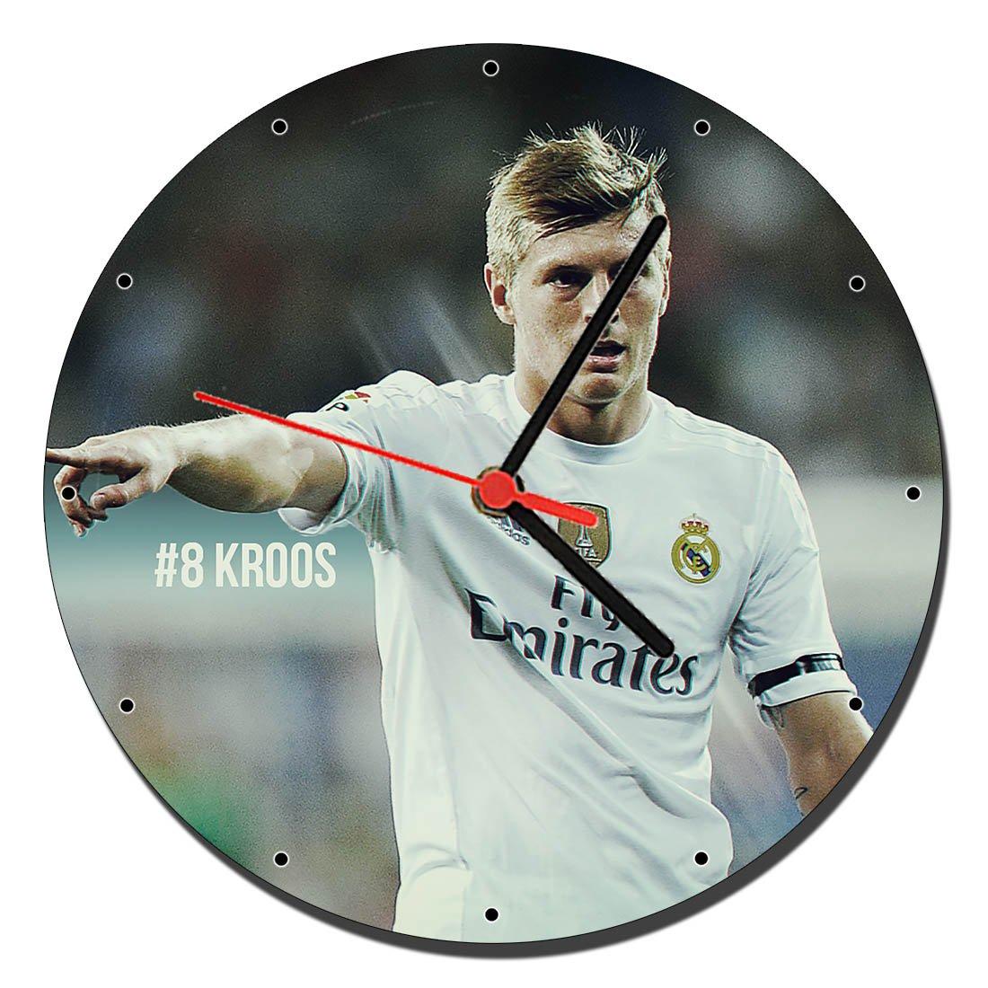 MasTazas Real Madrid Toni Kroos Reloj de Pared Wall Clock 20cm: Amazon.es: Hogar