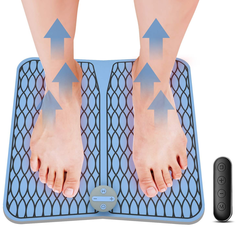 Masajeadores eléctricos para pies, Vigorun Pulsos de Baja Frecuencia Estimulación Muscular Eléctrica (EMS) Cojín de Masaje de Pies Fisioterapia ...