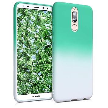 kwmobile Funda para Huawei Mate 10 Lite - Carcasa de [TPU] para móvil y diseño Bicolor en [Menta/Blanco]