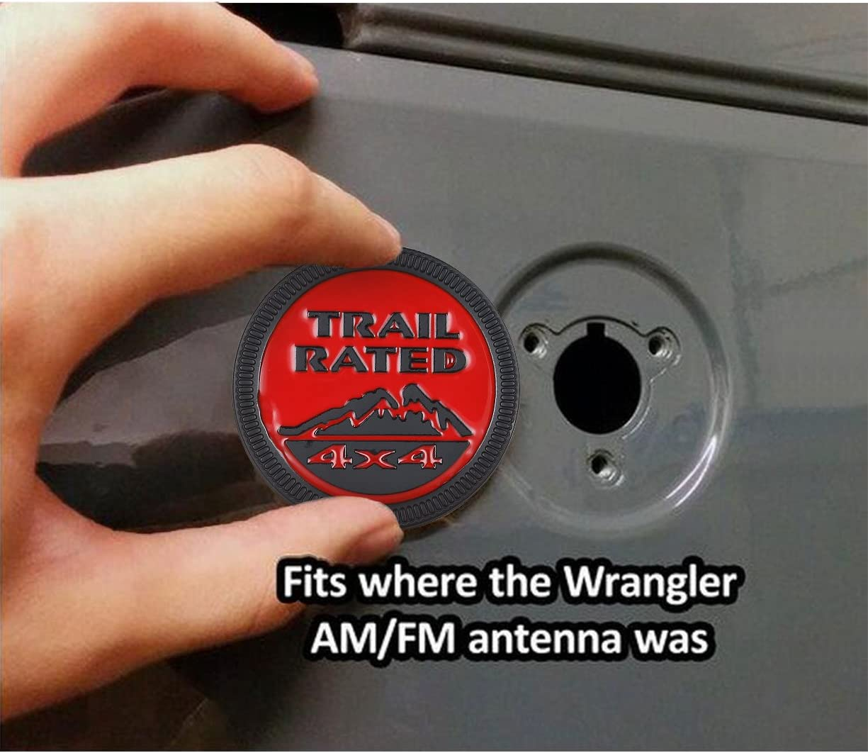 Jeep Wrangler Trail Rated 4x4 Metal Emblem Badge Sticker for Jeep Wrangler Cherokee Liberty