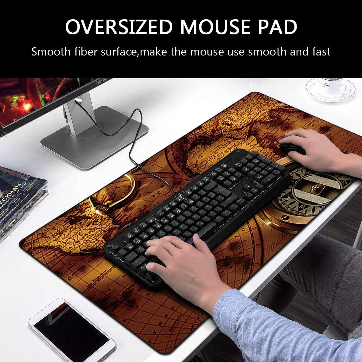 FORRICA Gro/ße Gaming Mauspad XXL 900 x 400 mm Mousepad Fransenfreie R/änder Anti Rutsch Schreibtischunterlage Tischunterlage Matte Office Rutschfest XXL Gaming Mousepad Braun