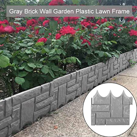 Xiegons3 6 12 Pcs Garden Brick Edging Border Plastic Brick Wall Garden Border Edging Decorative Flower Bed Edging Border Picket Fence For Landscaping Amazon Co Uk Kitchen Home