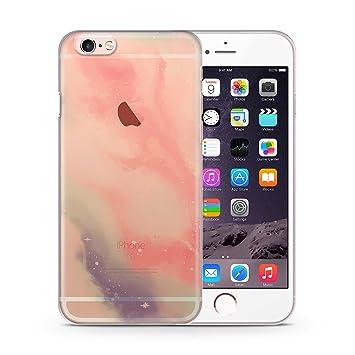 172985ab7c5 iPhone 6 Plus y 6S Plus transparente Slim móvil - Galaxy Colores Rosa de  pastel verde - HardCase - Carcasa Cover Case Agua Colores Pastel patrón  Diseño ...