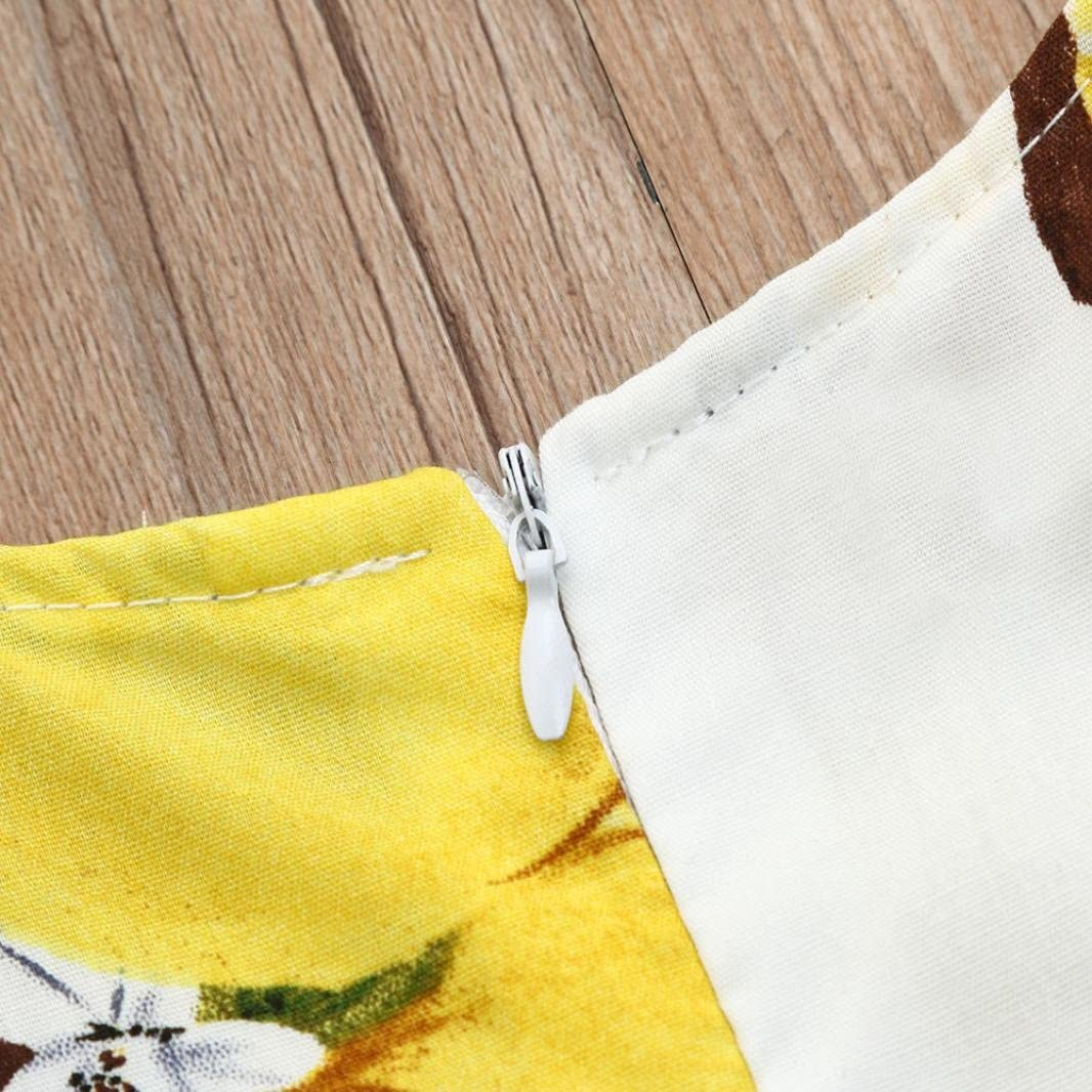 Infant Baby Lemon Print Ruffles Dresses Yoyorule Kids Girls Dress