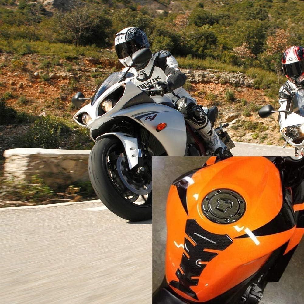 2 Feuilles Protection R/éservoir Adh/ésive 3D pour Motos Sport Protecteur de Protection de R/éservoir de Carburant DEssence 19,5 cm x 14 cm et 17,5 cm x 10 cm