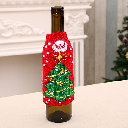 Artículos para el Hogar de Navidad de Alto Grado de Punto Botellas de Cerveza de Navidad