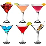 Rink Drink Martini Cocktail Glasses - 175ml (6oz) Gift Box Of 6