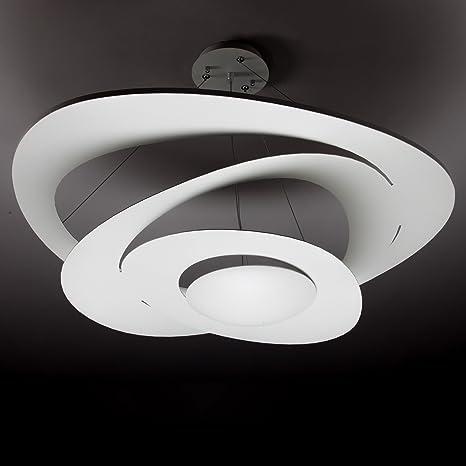 Design Cm 68 Lampadario Moderno AlluminioAmazon it Bianco In Space n80kOXwP