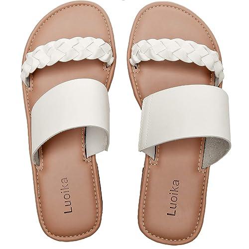 Wide Width Slide Sandals - Slip